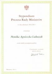 Dyplom Monika Lukoszek